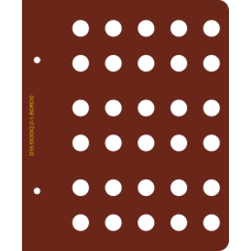 Лист для монет диаметром 15,5 мм (30 ячеек)