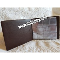 Альбом карманный на 96 монет, яч. 26х29 мм, кожзаменитель.