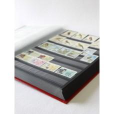 """Альбом для марок """"BASIC"""" 30 листов (60 страниц) чёрные листы. Leuchtturm"""
