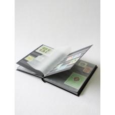 """Альбом для марок """"BASIC"""" 16 листов (32 страницы) чёрные листы (А5). Leuchtturm"""