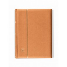 Альбом для марок (кляссер COMFORT). 32 листа (64 страницы) из чёрного картона. Metallic edition (Бронзовый). Leuchtturm