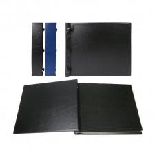 Альбом горизонтальный для значков на винтах, 250х210мм ПВХ с листами на ткани