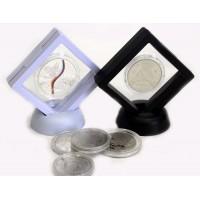 Футляр для монет с подставкой (70х70 мм.) белый