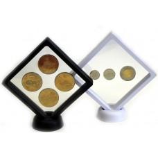 Футляр для монет с подставкой (110х110 мм.) белый