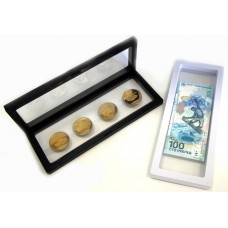 Дисплей для монет с подставкой (230х90 мм.), белый