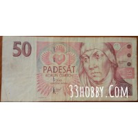 Банкнота Чехия 50 Крон 1994 год.