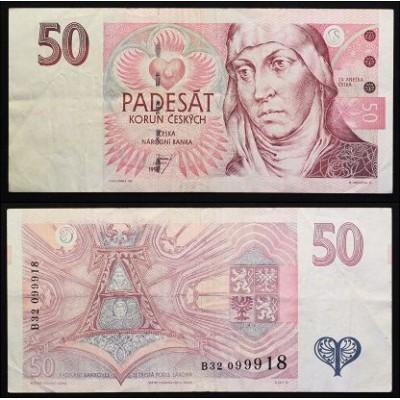 Банкнота Чехия 50 Крон 1997 год.