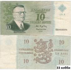 Банкнота Финляндия 10 Марок 1963 год