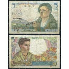 Банкнота Франция 5 Франков 1945 год.