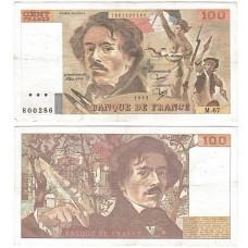 Банкнота Франция 100 Франков 1983 год.