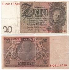 Банкнота Германия 20 Марок 1929 год.