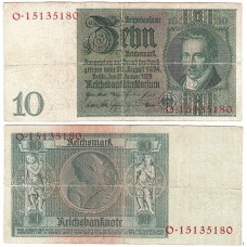 Банкнота Германия 10 Марок 1929 год.