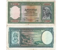 Банкнота Греция 1000 Драхм 1939 год.