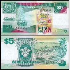 Банкнота Сингапур 5 долларов 1997 год
