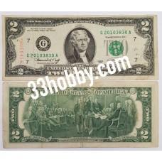 Банкнота США 2 доллара 1976 год (G)