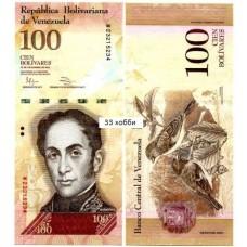 Банкнота Венесуэла 100 Боливаров 2012 год, пресс
