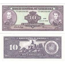 Банкнота Венесуэла 10 боливаров 1995 год, пресс