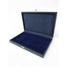 Футляр кожзам Sapfir M (238х155х37 мм) для 3 обычных монет 25 рублей и 3 цветных монет 25 рублей в блистере