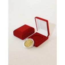 Футляр (61х79х32 мм) для одной монеты в капсуле (диаметр 44 мм) синий