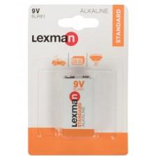 Батарейка алкалиновая крона Lexman 9 В