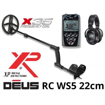 Металлоискатель XP Deus v5.2 c блоком, катушкой X35 22.5 см (9''), наушниками WS5