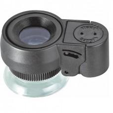 Лупа ювелирная c подсветкой и ультрафиолетом 45х 21 мм (MG13102)