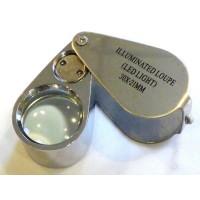 Лупа ювелирная с подсветкой ILLUMINATED 30х 21 мм (MG21007)