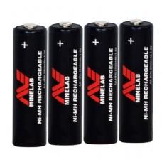 Аккумуляторы Minelab AA 2450 mAh Ni-MH (4шт) с зарядным устройством