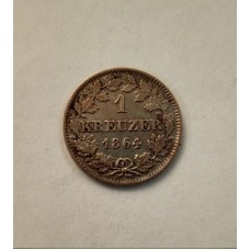 1 крейцер 1864 год. Бавария