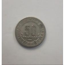 50 франков 1986 год. Экваториальная Гвинея