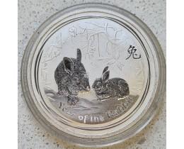 50 центов 2011 год. Австралия. Год кролика (Лунар) Ag 999
