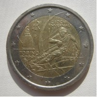 2 евро 2006 год. Италия. 20-е Зимние Олимпийские Игры в Турине.