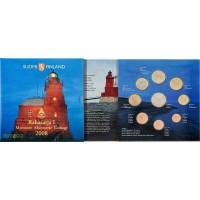 Официальный годовой набор евро монет Финляндия 2008 год. Маяки Финляндии. (8 монет+жетон) в буклете