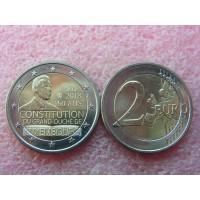 2 евро 2018 год. Люксембург. 150-летие Конституции Люксембурга