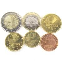 Андорра. Набор монет евро (6 штук) 2014 год