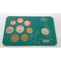 Греция. Набор евро монет 2002-2007 год, в слабе