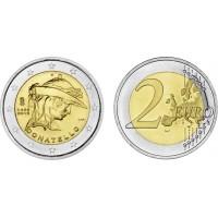 2 евро 2016 год. Италия. 550 лет со дня смерти Донателло.