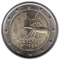 2 евро 2009 год. Италия. 200 лет со дня рождения Луи Брайля