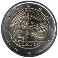 2 евро 2016 год. Италия. 2200 лет со дня смерти Тита Макция Плавта.