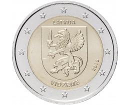 2 евро 2016 год. Латвия. Историческая область Видземе.