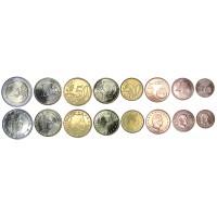 Люксембург. Набор евро монет. 2014 год.