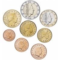 Люксембург. Набор евро монет. 2017 год.
