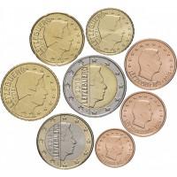 Люксембург. Набор евро монет. 2019 год.