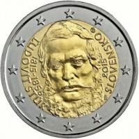 2 евро 2015 год. Словакия. 200 лет со дня рождения общественного деятеля Людовита Штура.