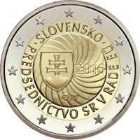 2 евро 2016 год. Словакия. Председательство Словакии в Совете ЕС.