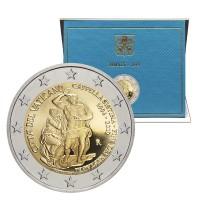 2 евро 2019 год. Ватикан. 25 лет восстановления Сикстинской капеллы (В буклете)