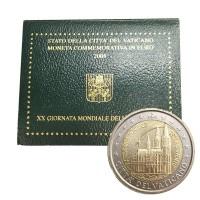 2 евро 2005 год. Ватикан. 20-й Международный день молодёжи в Кёльне.