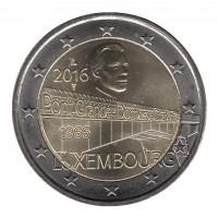 2 евро 2016 год. Люксембург. Мост Герцогини Шарлотты.