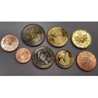 Австрия. Набор евро монет 2010-2016 год.