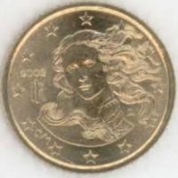 10 евроцентов 2002 год. Италия, унц